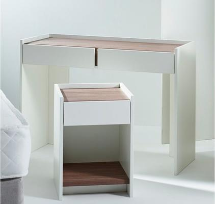 Essentials Bedside Table One Drawer - Matt White Lacquer image 9