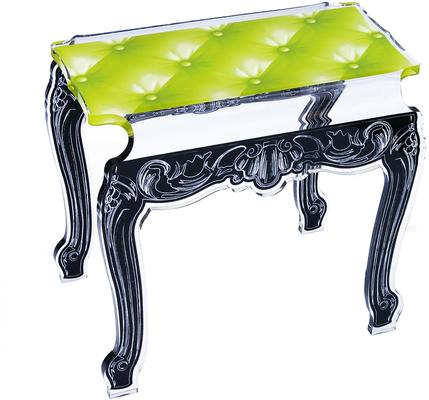Acrylic Buttoned Bedside Table Baroque Style image 3
