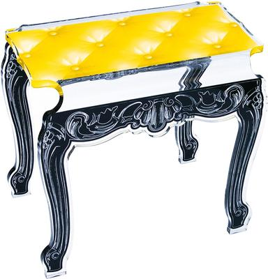 Acrylic Buttoned Bedside Table Baroque Style image 13