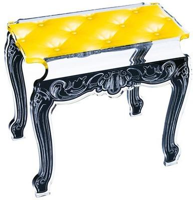 Acrylic Buttoned Bedside Table Baroque Style image 14