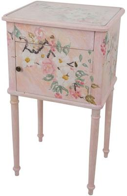 Floral Bedside Table One Drawer One Door in Grey or Pink image 3