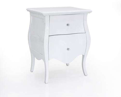 Clemence Two Drawer Bedside Table