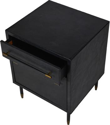 Leather Side Cabinet Contemporary Two Drawers image 4