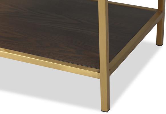 Levi Black Ash and Steel Bedside Table image 5