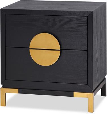 Otium Art Deco Bedside Table White or Black