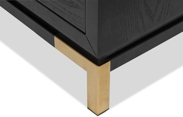 Otium Art Deco Bedside Table White or Black image 5
