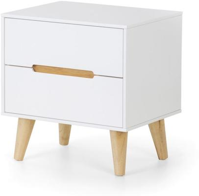 Visby 2 drawer bedside chest