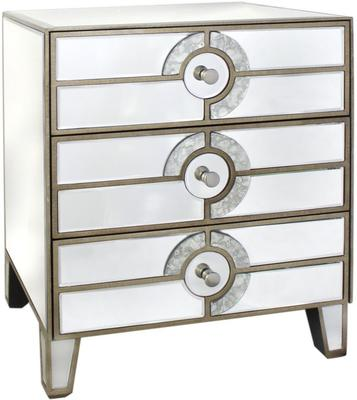 Mirrored Art Deco Bedside Table