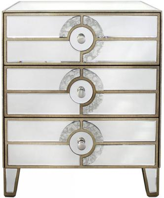 Mirrored Art Deco Bedside Table image 3