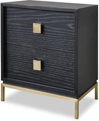 Lille Modern Wenge Bedside Table Brass Legs image 4