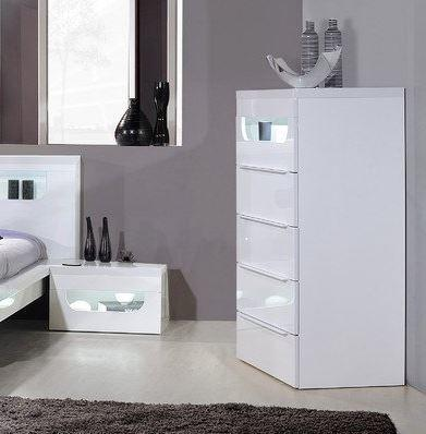 Opus 1 drawer bedside table (with lighting) image 5