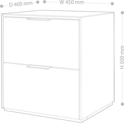 Smart Pure Grey Gloss Bedside Chest 2 Drawers with hidden wireless Phone Charging image 6