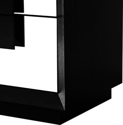 Etna Bedside Table Wenge Wood 2 Mirrored Drawers image 6
