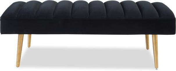 Rosso Velvet Bench with Brass Legs image 2