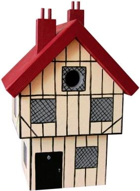Handmade Tudor House Bird Box image 3