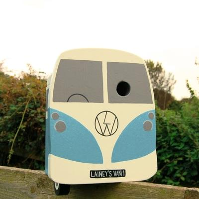 Handmade Campervan Bird Box image 3