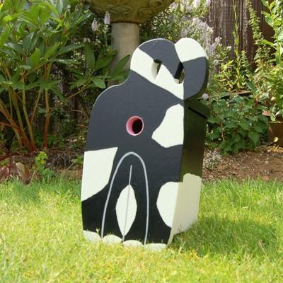 Handmade Cat's Rear Bird Box