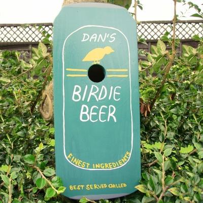 Handmade Beer Can Bird Box
