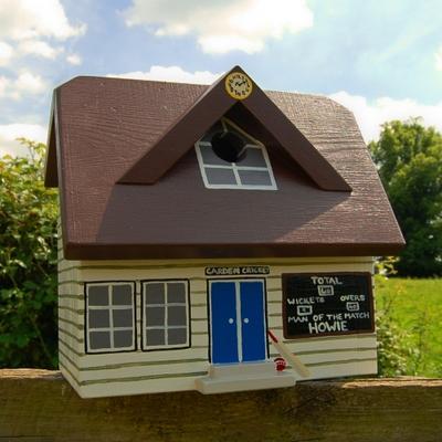 Handmade Cricket Pavilion Bird Box image 2