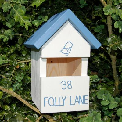 Handmade House Name Robin Bird Box image 2