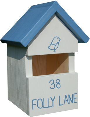 Handmade House Name Robin Bird Box image 3