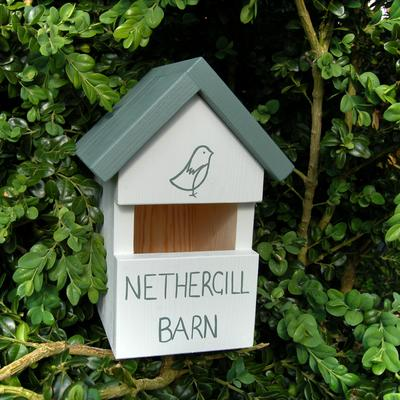 Handmade House Name Robin Bird Box image 4