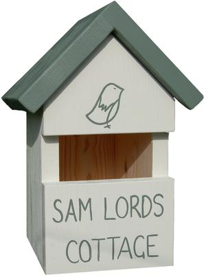Handmade House Name Robin Bird Box image 5