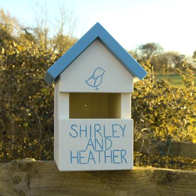 Handmade House Name Robin Bird Box