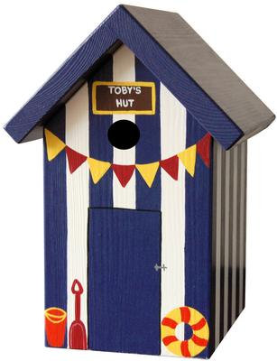 Handmade Beach Hut Bird Box image 2