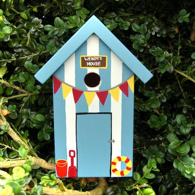 Handmade Beach Hut Bird Box image 3