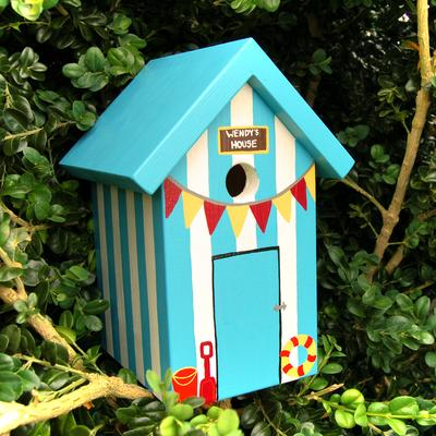 Handmade Beach Hut Bird Box image 5