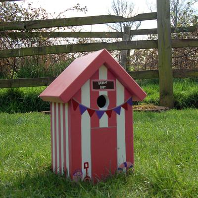 Handmade Beach Hut Bird Box image 6