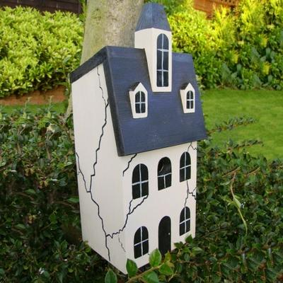 Handmade Haunted House Bird Box