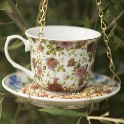 Cup & Saucer Birdfeeder image 2