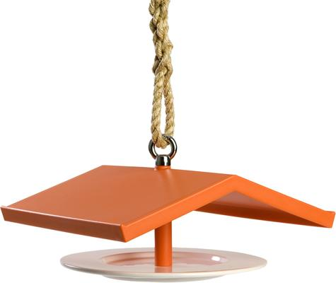 Droog Quirky Orange Birdhouse Feeder