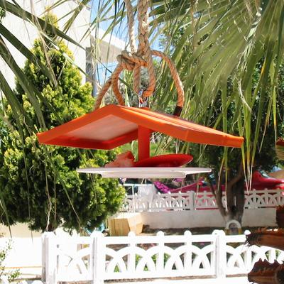 Droog Quirky Orange Birdhouse Feeder image 2