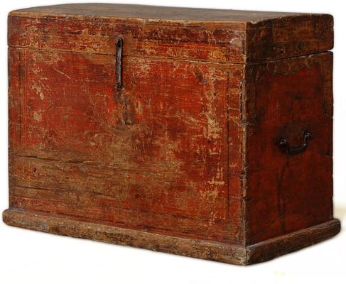 Mongolian Painted Trunk