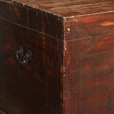 Shandong Painted Blanket Trunk image 5