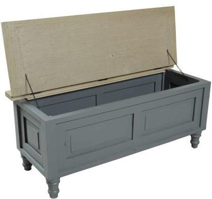 Bayonne Storage Bench French Grey or Antique White image 8