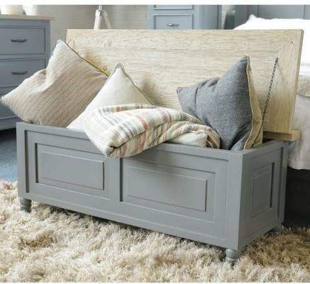 Bayonne Storage Bench French Grey or Antique White image 9