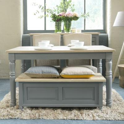 Bayonne Storage Bench French Grey or Antique White image 10