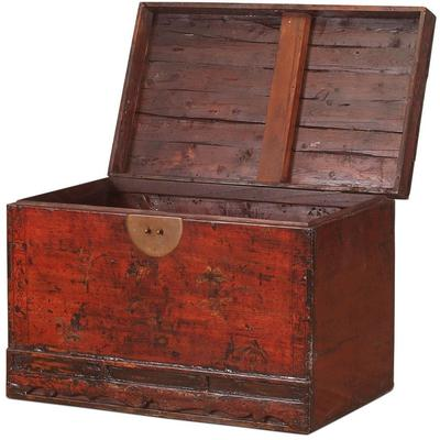Red Lacquer Painted Blanket Box image 3