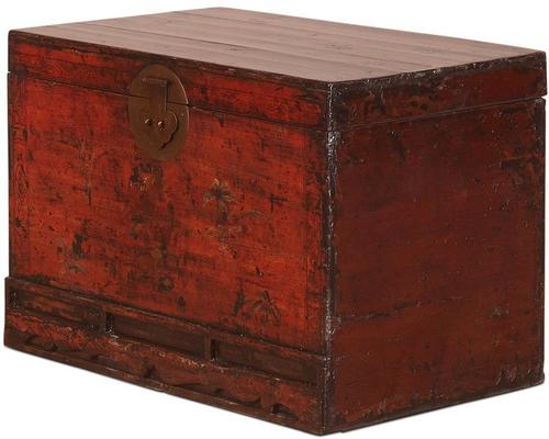 Red Lacquer Painted Blanket Box image 4