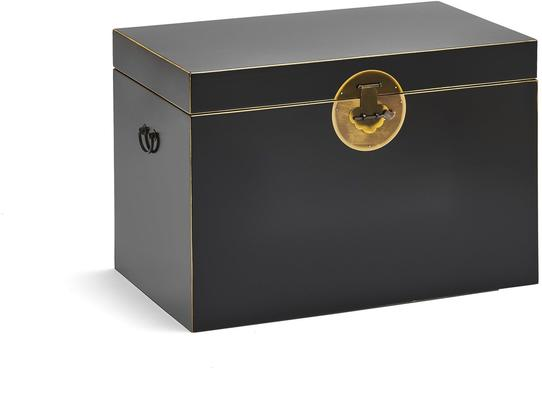 Large Classic Chinese Trunk – Black