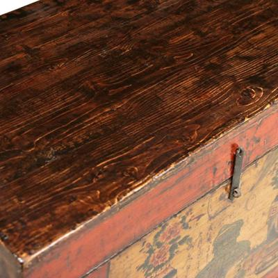 Painted Red Lacquer Blanket Trunk image 3