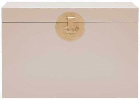 Large Classic Chinese Trunk - Oyster Grey