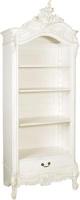 White French Open Bookcase Distressed