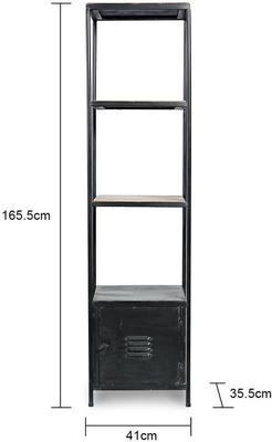 Tall Raw Metal Shelving Unit image 2