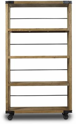 Slim Industrial Wheeled Bookcase