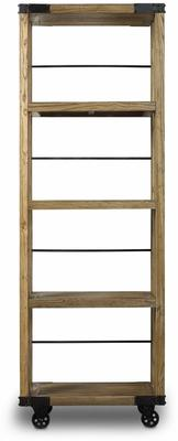 Slim Industrial Wheeled Bookcase image 2